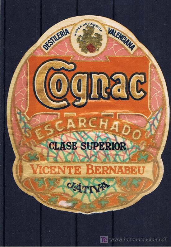 ET. CONYAC BERNABEU XATIVA AÑOS 50 CON ESCUDO DE VALENCIA (Coleccionismo - Etiquetas)