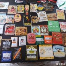 Etiquetas antiguas: GRAN COLECCIÓN DE ETIQUETAS DE VINO Y LICORES ETC. Lote 253651645