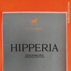 Etiquetas antigas: ETIQUETA VINO HIPPERIA CABERNET 2014. PAGO DE VALLEGARCIA. MONTES DE TOLEDO WINE LABEL. Lote 253976745
