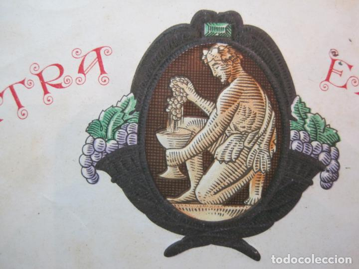 Etiquetas antiguas: SAN SADURNI DE NOYA-EXTRA RAVENTOS CODORNIU-ETIQUETA ANTIGUA-VER FOTOS-(80.353) - Foto 3 - 261853740