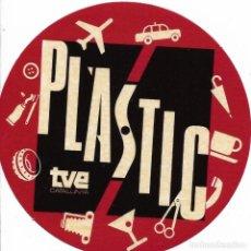 Etiquetas antiguas: ETIQUETA ADHESIVA DE PLASTIC DE TVE. Lote 261933125