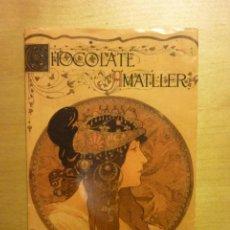 Etiquetas antiguas: ENVOLTORIO CHOCOLATES AMATLLER DISEÑO A. MUCHA [C. 2002]. Lote 262015525