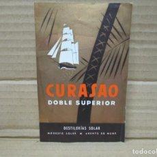 Etiquetas antiguas: ANTIGUA ETIQUETA, CURACAO DOBLE SUPERIOR. Lote 262920710