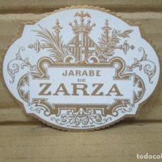 Etiquetas antiguas: ANTIGUA ETIQUETA, JARABE DE ZARZA. Lote 262923060