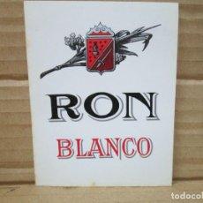 Etiquetas antiguas: ANTIGUA ETIQUETA, RON BLANCO. Lote 262923205
