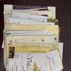 Etiquetas antiguas: LOTE DE ETIQUETAS DE VINO. Lote 262925115