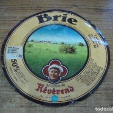 Etiquetas antiguas: ETIQUETA QUESO FORMAGE BRIE DE LORRAINE. Lote 263103220