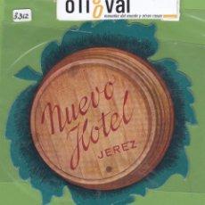 Etiquetas antiguas: ETIQUETA HOTEL NUEVO HOTEL JEREZ TROQUEL IRREGULAR IRREGULAR 130 MM EH3312. Lote 263716115