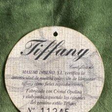 Etiquetas antiguas: ANTIGUA ETIQUETA LÁMPARA TIFFANY. Lote 265182704