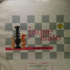 Etiquetas antigas: ENVOLTORIO CHOCOLATE TABUYO *JAQUE MATE* CON CACAHUETE. 250 GRMS. PONFERRADA 1969. Lote 267403719