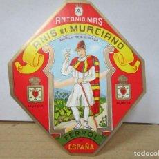 Étiquettes anciennes: ANTIGUA ETIQUETA, ANIS EL MURCIANO. Lote 268406069