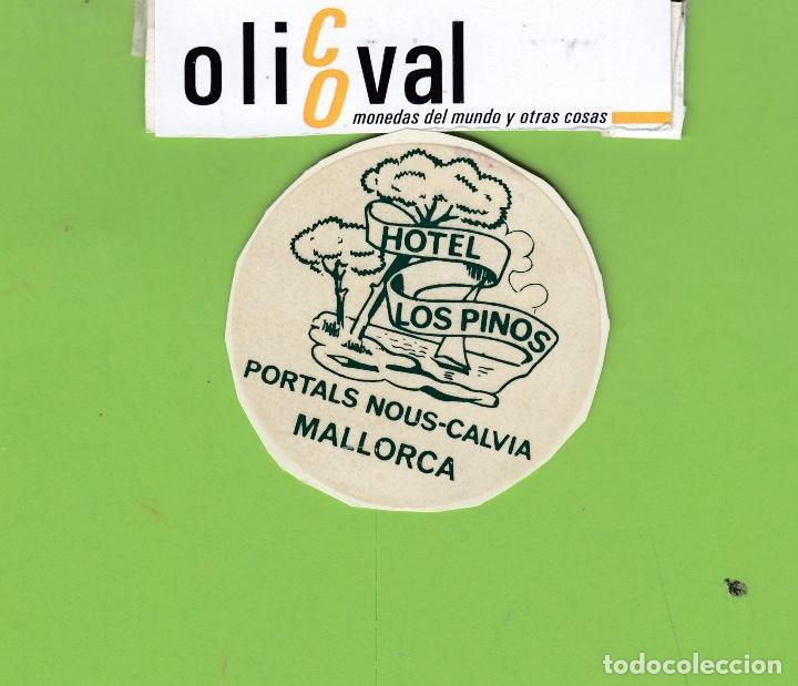 ETIQUETA HOTEL LOS PINOS MALLORCA TROQUEL 55 MM EH3414 (Coleccionismo - Etiquetas)