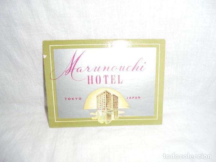 ETIQUETA HOTEL MARUNOUCHI TOKYO JAPAN (Coleccionismo - Etiquetas)