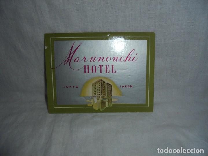 Etiquetas antiguas: ETIQUETA HOTEL MARUNOUCHI TOKYO JAPAN - Foto 2 - 269003109