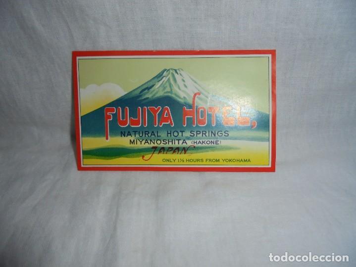 ETIQUETA HOTEL FUJIYA MIYANOSHITA HAKONE JAPAN (Coleccionismo - Etiquetas)