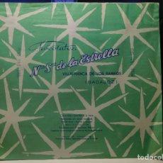 Étiquettes anciennes: ENVOLTORIO CHOCOLATE FAMILIAR A LA TAZA *NTR. SRA. DE LA ESTRELLA* 150 GRMS. BADAJOZ. 1963. Lote 269116503