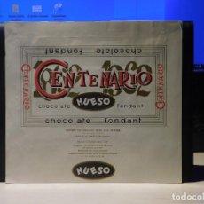 Étiquettes anciennes: ENVOLTORIO CHOCOLATE CON FONDANT HUESO *CENTENARIO* 150 GRMS. ATECA (ZARAGOZA) 1963. Lote 269118568