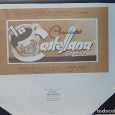 Étiquettes anciennes: ENVOLTORIO CHOCOLATE FAMILIAR A LA TAZA *LA CASTELLANA* 200 GRMS. SEGOVIA. 1964. Lote 269149328