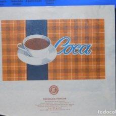 Étiquettes anciennes: ENVOLTORIO CHOCOLATE FAMILIAR *COCA* 150 GRMS. SALAMANCA. 1965. Lote 269155398
