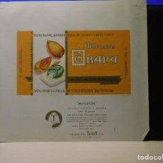 Etiquetas antiguas: ENVOLTORIO CHOCOLATE CON LECHE Y ALMENDRA 'ALMENNLAK* *TRAPA* 150 GRMS. PALENCIA. 1964. Lote 269162183