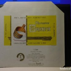 Etiquetas antiguas: ENVOLTORIO CHOCOLATE CON LECHE 'LAK' *TRAPA* 150 GRMS. PALENCIA. 1965. Lote 269162303