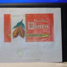 Etiquetas antiguas: ENVOLTORIO CHOCOLATE ESPECIAL 'CARDENAL' *TRAPA* 150 GRMS. PALENCIA. 1964. Lote 269162418
