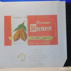 Etiquetas antiguas: ENVOLTORIO CHOCOLATE ESPECIAL 'CARDENAL' *TRAPA* 150 GRMS. PALENCIA. 1965. Lote 269162448