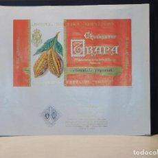 Etiquetas antiguas: ENVOLTORIO CHOCOLATE ESPECIAL 'CARDENAL' *TRAPA* 150 GRMS. PALENCIA. 1964. Lote 269162513