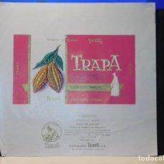 Etiquetas antiguas: ENVOLTORIO CHOCOLATE ESPECIAL 'CARDENAL' *TRAPA* 150 GRMS. PALENCIA. 1965. Lote 269162563