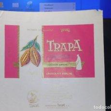 Etiquetas antiguas: ENVOLTORIO CHOCOLATE ESPECIAL 'CARDENAL' *TRAPA* 200 GRMS. PALENCIA. 1965. Lote 269162608
