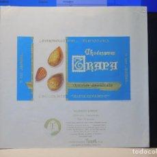 Etiquetas antiguas: ENVOLTORIO CHOCOLATE ALMENDRADO *TRAPA* 150 GRMS. PALENCIA. 1965. Lote 269162703