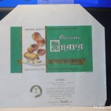 Etiquetas antiguas: ENVOLTORIO CHOCOLATE CON LECHE Y AVELLANA 'AVELAK' *TRAPA* 150 GRMS. PALENCIA. 1965. Lote 269162918
