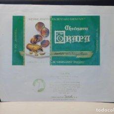 Etiquetas antiguas: ENVOLTORIO CHOCOLATE CON LECHE Y AVELLANA 'AVELAK' *TRAPA* 150 GRMS. PALENCIA. 1964. Lote 269162938