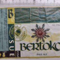 Etiquetas antiguas: ETIQUETA CERVEZA BERTOKO - EUSKAL GARGARDOA - PALE ALE. Lote 269173723