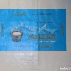 Etiquetas antiguas: ENVOLTORIO CHOCOLATE CON LECHE *MOLLAR* 200 GRMS. HOSPITALET (BARCELONA) 1971. Lote 269484108