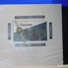 Etiquetas antiguas: ENVOLTORIO CHOCOLATE SUPREMO PIEDRA *MOLLAR* 200 GRMS. HOSPITALET (BARCELONA) 1972. Lote 269484283