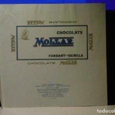 Etiquetas antiguas: ENVOLTORIO CHOCOLATE FONDANT-VAINILLA *MOLLAR* 200 GRMS. HOSPITALET (BARCELONA) 1965. Lote 269484343