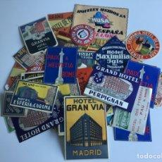 Etichette antiche: HOTELES EUROPEOS, ETIQUETAS PARA VIAJES, MÁS DE 250 ETIQUETAS AÑOS 50 - 60. Lote 276112683