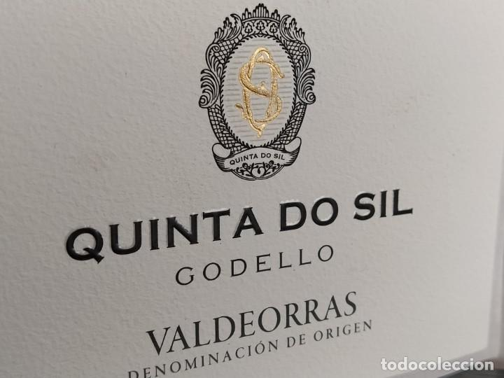 Etiquetas antiguas: ETIQUETA VINO - QUINTA DO SIL - GODELLO, VALDEORRAS DENOMINACION DE ORIGEN. GALICIA, ESPAÑA - Foto 2 - 277098278