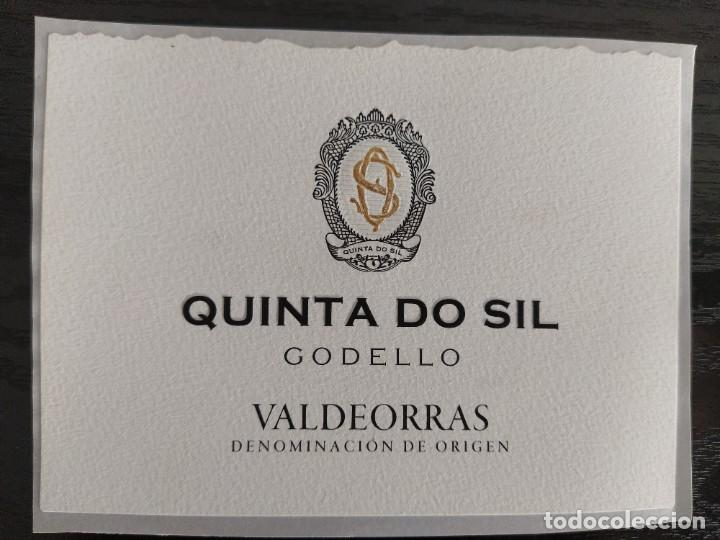 ETIQUETA VINO - QUINTA DO SIL - GODELLO, VALDEORRAS DENOMINACION DE ORIGEN. GALICIA, ESPAÑA (Coleccionismo - Etiquetas)