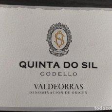 Etiquetas antiguas: ETIQUETA VINO - QUINTA DO SIL - GODELLO, VALDEORRAS DENOMINACION DE ORIGEN. GALICIA, ESPAÑA. Lote 277098278