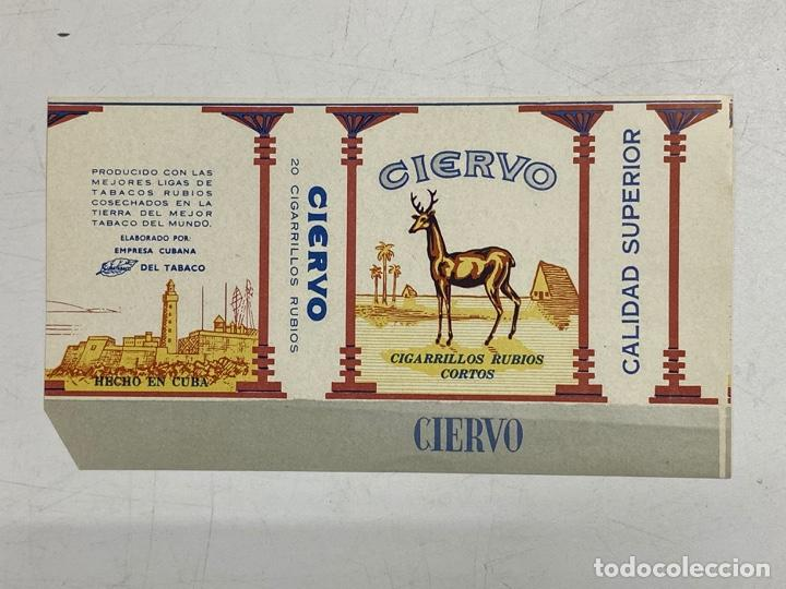 ETIQUETA DE TABACO. CIERVO. CIGARRILLOS RUBIOS CORTOS. CUBA. (Coleccionismo - Etiquetas)