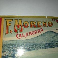 Etiquetas antiguas: PRECIOSA Y CURIOSA ETIQUETA DE 18?? EN INGLÉS DE LOS PIMIENTOS ROJOS DE CALAHORRA. VESUVIUS.MORENO.. Lote 278693453