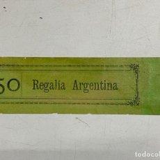Etiquetas antiguas: ETIQUETA. REGALÍA ARGENTINA. VER FOTOS. Lote 278694643