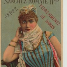 Etiquetas antiguas: SÁNCHEZ ROMATE HNOS . JEREZ .PEDRO XIMENEZ DE DAMAS . .ETIQUETA DE VINO ORIGINAL. Lote 280116868