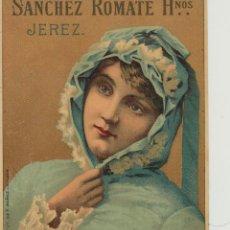 Etiquetas antiguas: SÁNCHEZ ROMATE HNOS . JEREZ . MALAGA BLANCO DULCE . .ETIQUETA DE VINO ORIGINAL. Lote 280116948