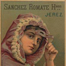 Etiquetas antiguas: SÁNCHEZ ROMATE HNOS . JEREZ . LÁCRIMA CHRISTI . .ETIQUETA DE VINO ORIGINAL. Lote 280117008