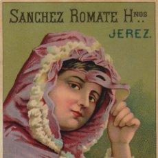 Etiquetas antiguas: SÁNCHEZ ROMATE HNOS . JEREZ . LÁCRIMA CHRISTI . .ETIQUETA DE VINO ORIGINAL. Lote 280117038