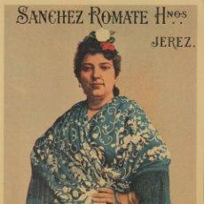 Etiquetas antiguas: SÁNCHEZ ROMATE HNOS . JEREZ . OLOROSO DOÑA JUANA . .ETIQUETA DE VINO ORIGINAL. Lote 280117248
