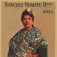 Etiquetas antiguas: SÁNCHEZ ROMATE HNOS . JEREZ . OLOROSO DOÑA JUANA . .ETIQUETA DE VINO ORIGINAL. Lote 280117278